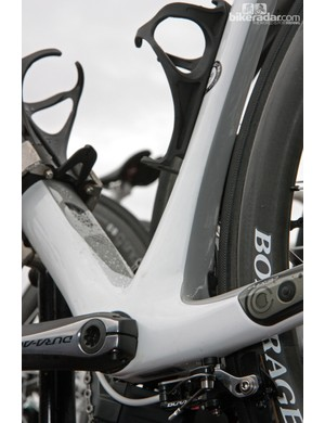 The grey paint denotes the truncated sections of RadioShack-Nissan-Trek's new Madone