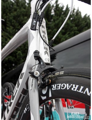 Trek looks to have fully embraced Shimano's new Dura-Ace direct-mount brake standard, using it front and rear on the new Madone