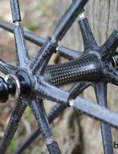 The carbon hub on the FFWD Ghost tubular wheelset