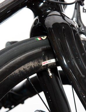 One of Bradley Wiggins' (Team Sky) custom wheelsets was built with HED S3 carbon tubular rims