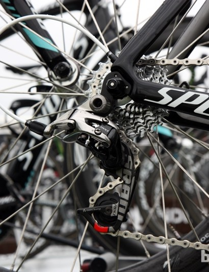 Tony Martin (Omega Pharma-QuickStep) is running a new SRAM Red transmission at the Critérium du Dauphiné