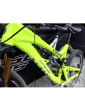 This neon yellow Intense Uzzi is under 32lbs as it is, with the double barrel air shock and a spec that would make anyone drool
