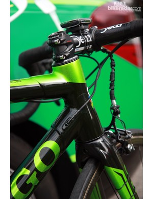 Colnago sticks with lugged construction on Thomas Voeckler's (Europcar) C59 Italia