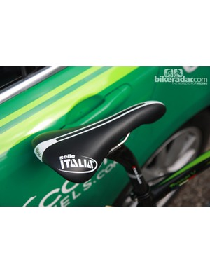 A well padded Selle Italia Flite saddle for Thomas Voeckler (Europcar)