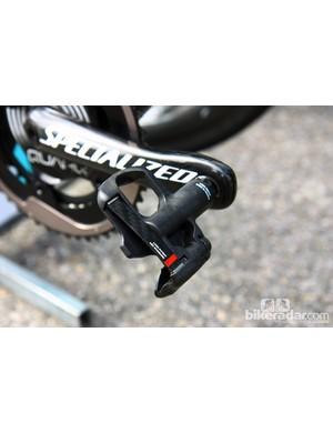 Tony Martin (Omega Pharma-QuickStep) puts the power down through a pair of Look KéO Blade pedals