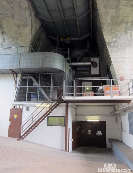 The Geneva wind tunnel is literally built inside the side of a hill, occupying space that was once intended to be a tunnel for a train