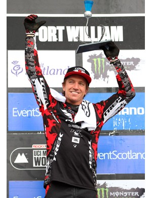 Aaron Gwin is delighted with victory