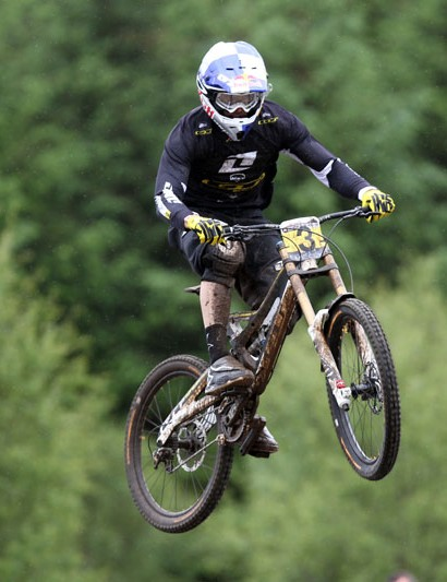 Gee Atherton, third in the men's