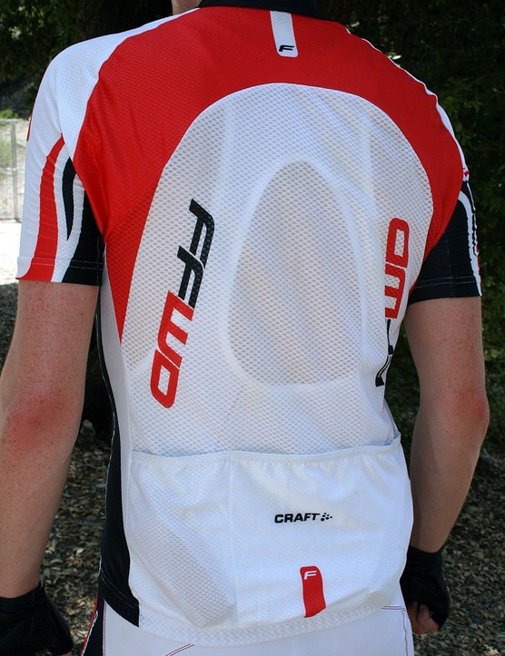 The FFWD jersey from the rear