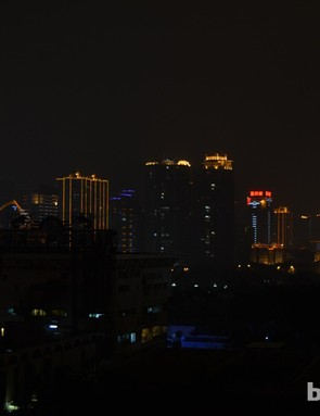 The Xiamen skyline was a spectacular finale to our ride around the island