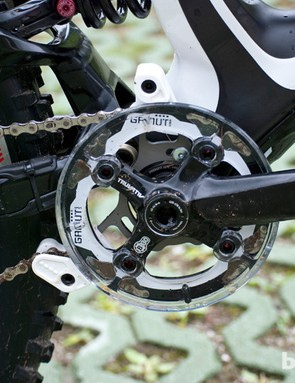 BB height is exceptionally low, but if crank-dragging isn't your thing it can be adjusted