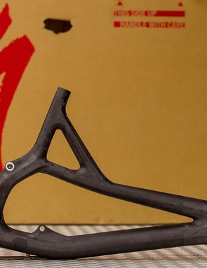 Making the front triangle in two parts gives designers extra control over carbon layup
