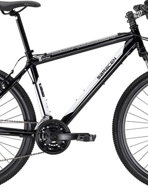 The updated 2012 Saracen Tufftrax frame design comes disc-ready
