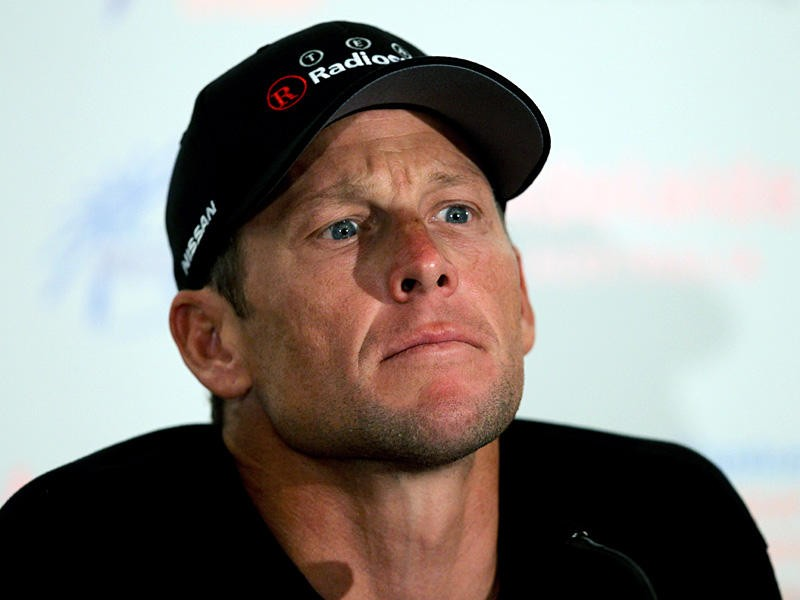 Lance Armstrong at a 2011 press conference