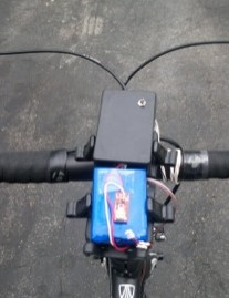 A top view of the DIY electric shifting package