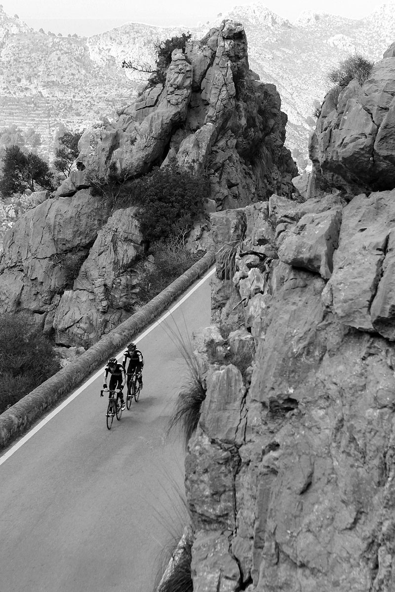 Roads built into craggy mountains are common, particularly on the peninsula leading to Cap de Formentor