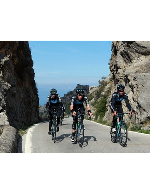 Team Sky are just one of the pro teams who train on Mallorcan roads before the start of the season