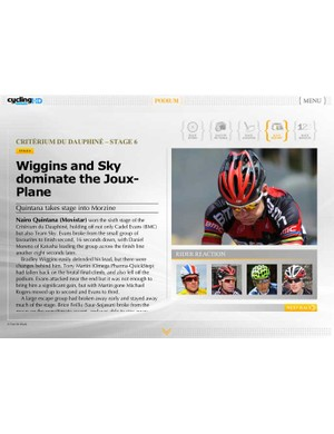 Race reports on your iPad