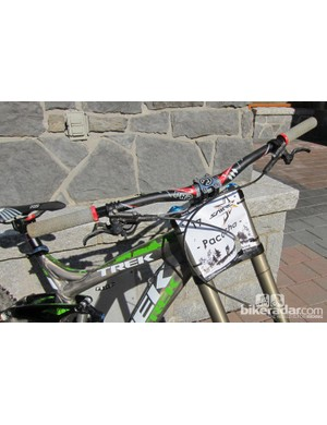 Our Trek Session 88 test rig for Shimano's Saint ride camp