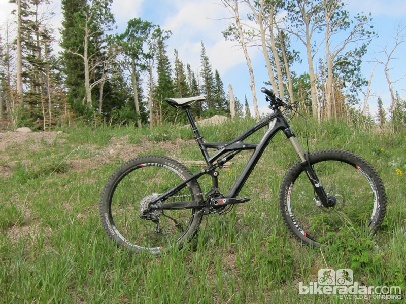 Specialized's 2012 Enduro Expert Carbon frame with a custom build. We've been using it as our 2012 all-mountain mule