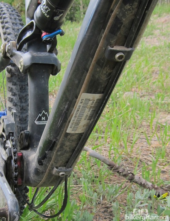 Our shifter housing may have saved the down tube from a more dramatic impact