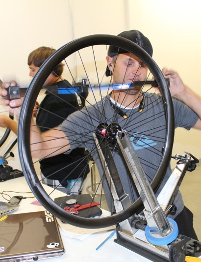 ENVE can crank out about 80 to 120 rims a day. The rims are sold alone or as complete wheels