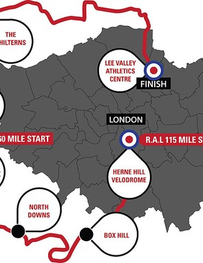 Ride Around London 2012 route