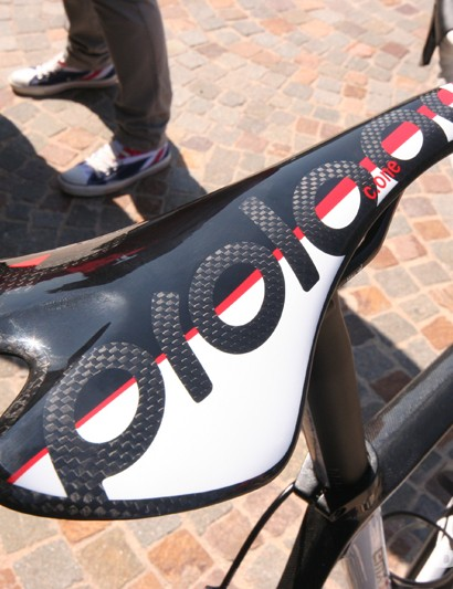 Our custom spec Eddy Merckx EMX-5 came fitted with this ultra-light Prologo C-One Nack saddle
