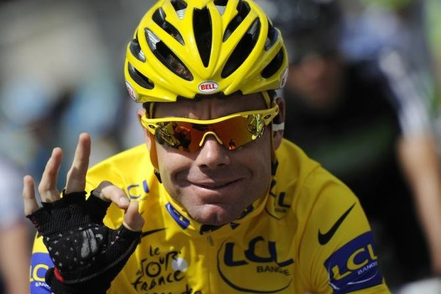 Golden oldie: Cadel Evans, at 34, was the fourth oldest Tour de France winner ever in 2011