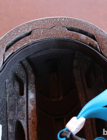 Although the Sweet lacks front vents, interior channeling could provide some air flow to the front of the helmet