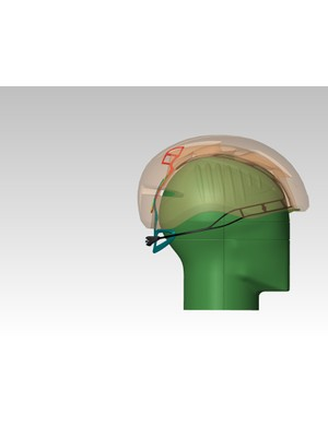 The new Roc Loc Air retention system encapsulates the entire top of the rider's head, creating a 3mm gap to the liner that Giro says allows for admirable airflow