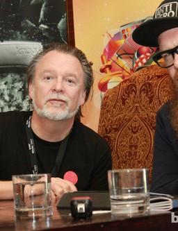 Knog's Hugo Davidson and Michael Lelliott