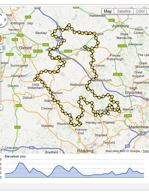 A preview of the 100-mile Chiltern Challenge 100 route