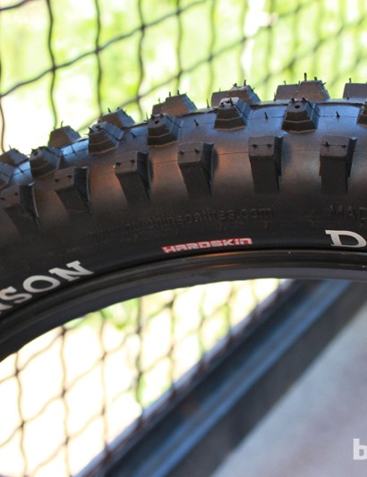 DZO is a tall knobbed mud tire, but Hutchinson step's each knob to make it easy to cut down, should a course require