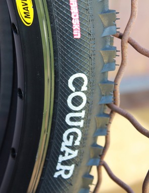 The Hardskin tubeless casing on Cougar