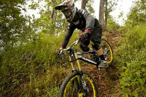Fabien Cousinie, Morewood-United Ride racer, and ride tester behind the Squale