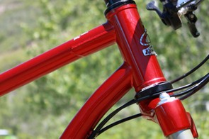 This seemingly simple bend in the down tube kept the SIR 9 redesign running for the better part of two years
