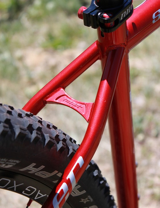 A forged Niner seat stay bridge
