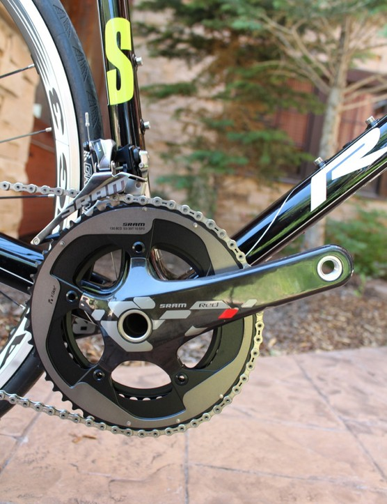 With SRAM Red and Fulcrum wheels, the Helium SL weighs 14.2lb