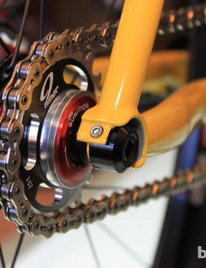 The singlespeed option for the new through-axle dropouts