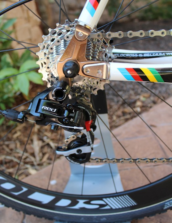 SRAM Red helps make for a 16.2lb X-Night