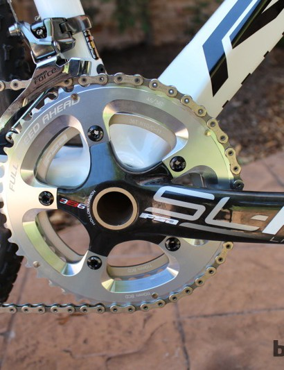 FSA SL-K Light BB386 cranks round out the SRAM Red group