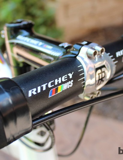Unlike the road bikes, which get Forza house components, the X-Night receives Ritchey's top-end WCS cockpit