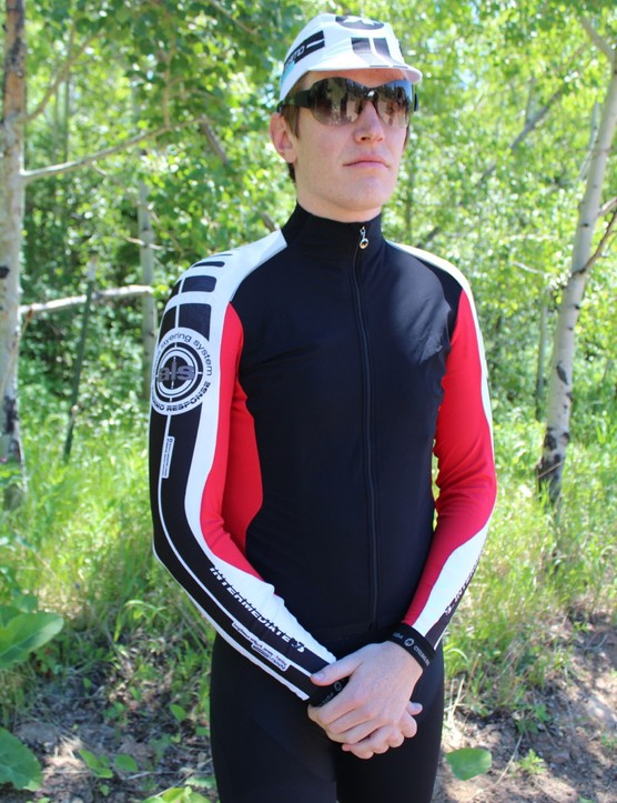 The new Intermediate S7 longsleeve jersey has a Stratagon wind resistant front with a felt backing on the inside