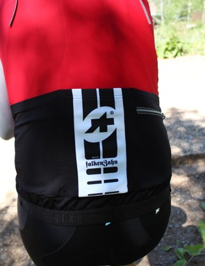 The FalkenZahn materials stretch out but not down, so the pockets don't sag