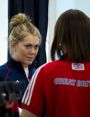 Jess Varnish at this week's Team GB 'kitting out' today