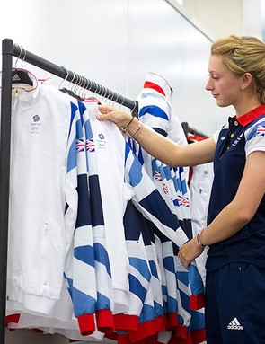 Laura Trott at this week's Team GB 'kitting out' today