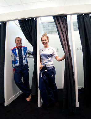 Sir Chris Hoy and Jess Varnish