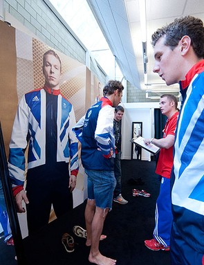 Team GB at this week's 'kitting out' day