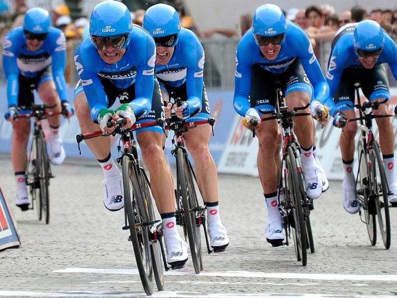 Garmin-Barracuda won the team time trial at the Giro d'Italia
